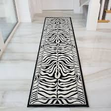 runner rug monochrome black white