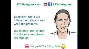 Dialogue 32 Ingles Spanish Birthday Party Fiesta De