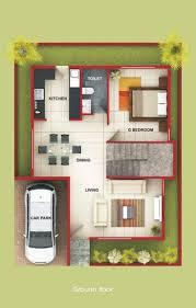 floor plan for 2bhk house