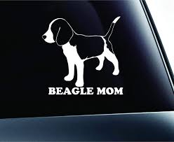 Amazon Com Expressdecor Beagle Mom Dog Symbol Decal Funny Car Truck Sticker Window White Automotive