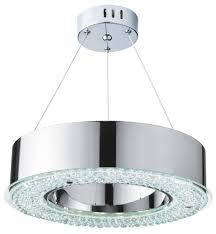 halo chrome led pendant light with
