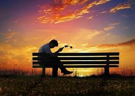 sad and alone boy in sunset the best