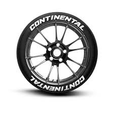 Continental Tire Lettering Performance Tire Decals Tiregraficx
