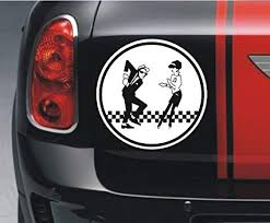 Amazon Com Vinyl Stickers Ska Man Beat Girl Automotive