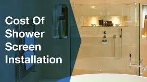 cost of shower screens serviceseeking