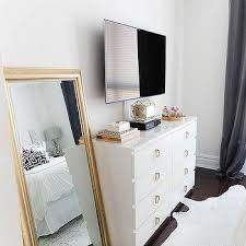 white ikea dresser with gold hardware