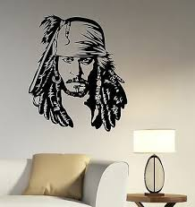 Jack Sparrow Wall Decal Johnny Depp Pirates Of The Caribbean Vinyl Sticker Art 1 Ebay