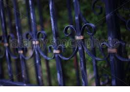 Forged Iron Fence Closed Up Ornament Stock Photo Alamy