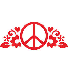 Peace Flower Sticker Decal Hippie Stickers By Stuck On Maui