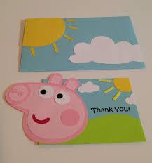 Peppa Fiesta De Cumpleanos Peppa Pig Tarjeta Gracias Gracias