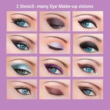 3 set quick makeup stencils 12 eyeliner