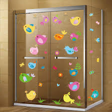 Removable Space Bathroom Window Decals For Childrens Room Nursery Party Favors Ootsr Jungle Animal Window Sticker Bug Bird Decal 3 Big Sheet Wall Decor