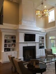 fireplace tall ceilings built ins