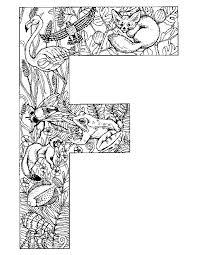 Kids N Fun Kleurplaat Alfabet Dieren Letter F
