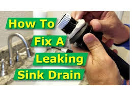 how to fix bathroom sink drain leaks