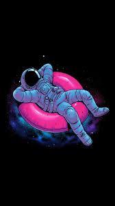 iphone wallpaper cartoon astronaut