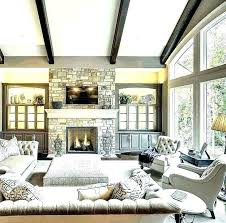 modern living room fireplace images