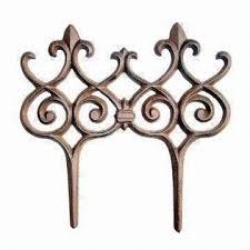 garden decorative fence made of cast