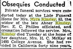 Myra Stevens Kinsley (1855-1938) - Find A Grave Memorial