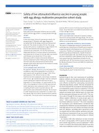 PDF) Safety of live attenuated influenza vaccine in atopic children with  egg allergy