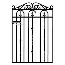 wrought iron style metal garden gate
