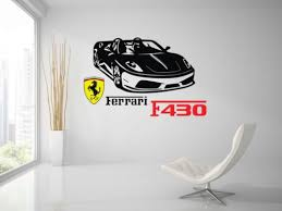 Ferrari F430 Spider Sport Racing Car Wall Decal Art Mural Vinyl Sticker Home Garden Children S Bedroom Cars Decor Decals Stickers Vinyl Art