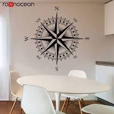 Compass Rose The Patriot Vinyl Decal For Walls Ceilings And More Travel Wall Sticker Nautical Theme Bedroom Decor 3028 Wall Stickers Aliexpress