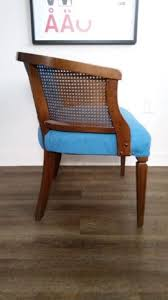 upcycled vintage cane back side chair