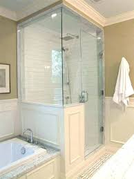 glass shower walls instead tile wall