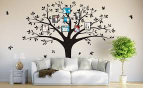 Large Family Tree Photo Frames Wall Decal Vinyl Wall Stickers For Home Decoration 220 X 250 Cm Black Amazon Com
