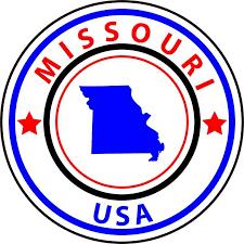 5in X 5in State Circle Missouri Sticker Vinyl Bumper Sticker Sign Decal Stickertalk