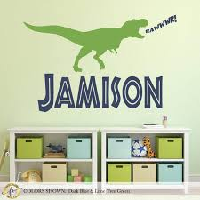 Dinosaur Wall Decal Name Wall Decal Boy Name Decal For Etsy