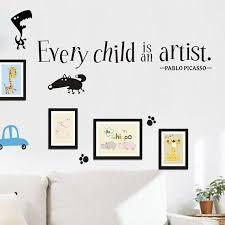 Every Child Is An Artist Pablo Picasso Wall Decal Vinyl Sticker Decor Art Class