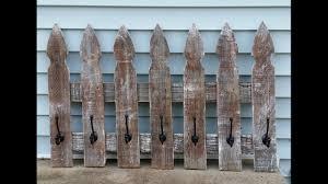 Whitewashed Picket Fence Coat Rack Myrepurposedlife Com Youtube