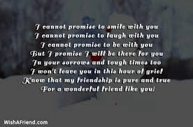 i cannot promise to smile best friend quote