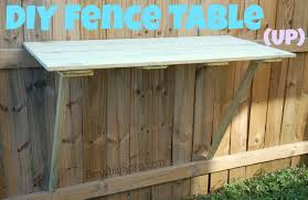 How To Make A Diy Fence Table For Your Backyard