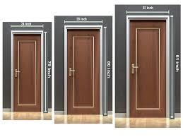 what is the standard bedroom door size