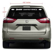 1 Line Rear Glass Business Vinyl Decal