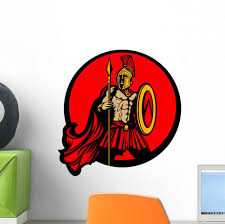 Greek Spartan Emblem Wall Decal Wallmonkeys Com