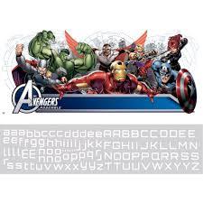 Avengers Assemble Personalization Headboard Peel And Stick Wall Decals Walmart Com Walmart Com