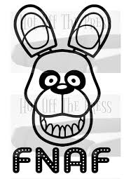 Fnaf Bonnie Svg Dxf Files For Silhouette For Cricut Vector Etsy