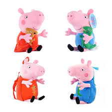 Peppa Pig Peggy George Pig Plush Doll Doll Toy Pink Piglet Kawaii Backpack  Wallet Student Bag Child Birthday Christmas Gift| | - AliExpress