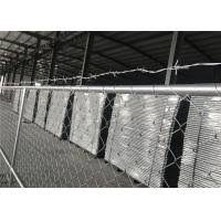 8 X12 Chain Link Fence Panels For Semi Contruction Site Mesh 3 X 3 X 12gauge Astm392 Hang With Barb Wire Of Wiremeshfencecom