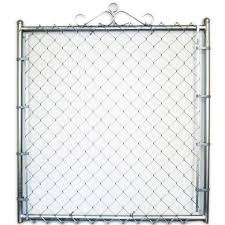 4 Ft X 12 Ft Uncoated Galvanized Steel Chain Link Drive Gate 149 00 Chain Link Fence Gate Chain Link Fence Chain Fence