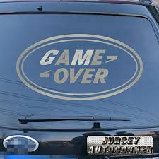 Game Over Funny Car Decal Sticker Vinyl