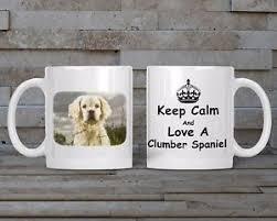 clumber spaniel mug and coaster dog