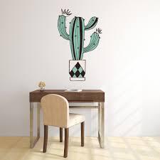 Black Green Stripe Cactus Wall Decal Sticker Ws 50914 Ebay