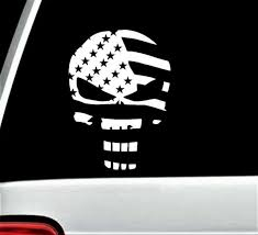 Punisher Skull Flag Patriot Pro Gun Rights Sniper 6 Inch Decal Sticker For Sale Online
