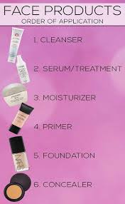 know which order to put on your face