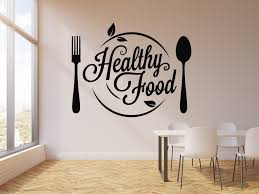 Vinyl Wall Decal Organic Healthy Food Diet Dining Room Nutrition Stick Wallstickers4you